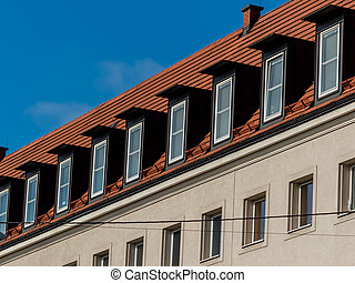 equipped apartments in the attic - in an old house of the...