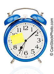 alarm clock to the start of school - an alarm clock with a...