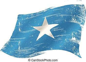 Somalia grunge flag - A grunge Somalian flag for you in the...