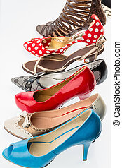 shoes with high heels - different colored shoes with heels...