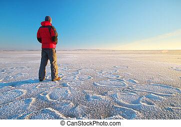 Man on ice