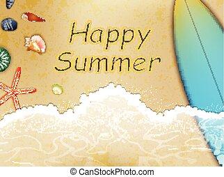 sommar, lycklig, lov