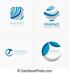 Circle abstract shape logo Vector illustration