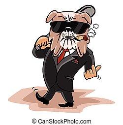 Bulldog Businessman