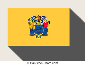 American State of New Jersey flag