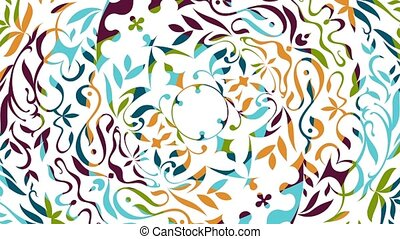 Floral colored animation - Beautiful colored animation with...