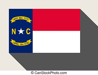 American State of North Carolina flag