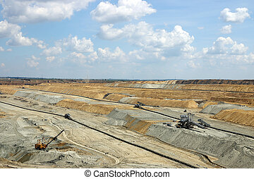 open pit coal mining industry