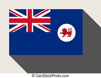 Tasmania state flag - Tasmania State flag in flat web design...