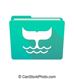 Folder icon with a whale tail
