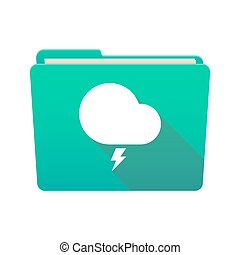 Folder icon with a stormy cloud