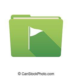 Folder icon with a golf flag