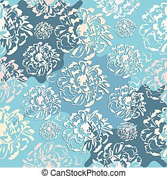 Cute abstract floral seamless pattern