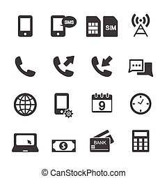 Print - Mobile account management icons