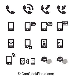 phone icon set