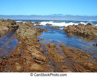 Rocky coast in Perth - A rocky coast in Perth with high...