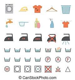 laundry and washing icon