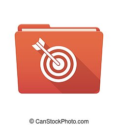 Folder icon with a dart board - Isolated file folder icon...