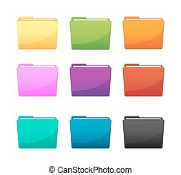 Folder icon color set