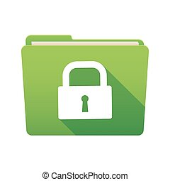 Folder icon with a lock pad