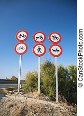 highway access signals - group of highway access prohibit...