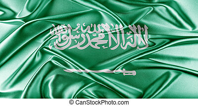 Saudi Arabia Flag. Flag with a beautiful glossy silk...