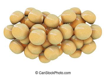 Fat cells - 3d rendered illustration
