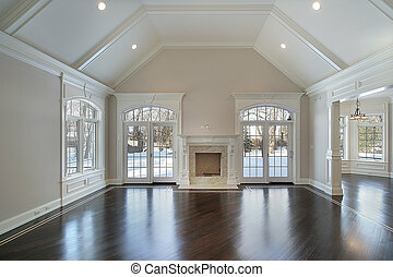 Family room with outside view - Family room in new...