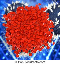 Blood clot - 3d rendered illustration