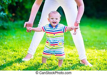 poco, bebé, niño, Elaboración, el suyo,...