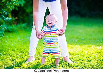 poco, bebé, niño, Elaboración, primero,...