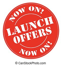 Launch Offers-stamp - Red stamp with text Launch...