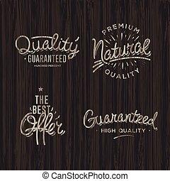 Premium quality labels, set, vector eps10 illustration