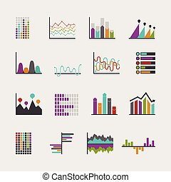 Set schedules for business illustrations Various manners...