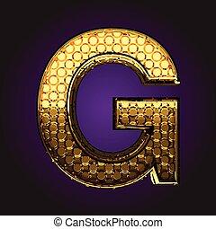 g vector golden letter