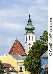 Grinzing With Church And Himmelstrasse In district No 19 in...