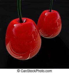 Cherry - 3d rendered illustration