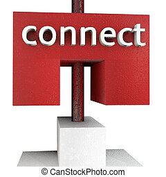 Connect - 3d rendered illustration