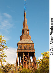 Traditional wooden Swedish Church - Traditional old wooden...