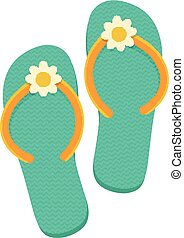 Beach thongs. - Isolated icon pictogram. Eps 10 vector...