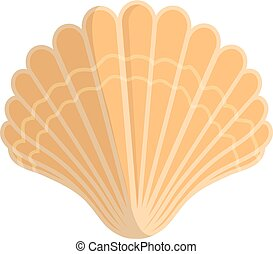 Sea shell. - Isolated icon pictogram. Eps 10 vector...