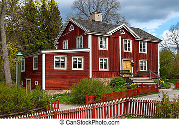 typical swedish wooden house, stockholm - The typical...