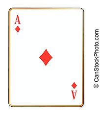 Ace Diamonds - The playing card the ace of diamonds over a...