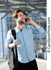 Cheerful male traveler - Portrait of a cheerful male...