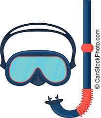 Diving goggles mask - Isolated icon pictogram Eps 10 vector...