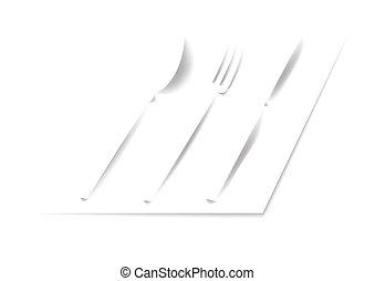 Spoon, fork, knife