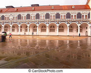 Colonnade in Dresden - View of the Stable court in the Saxon...