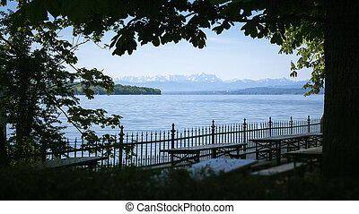 Zugspitze Ammersee - An image of the Zugspitze in Bavaria...