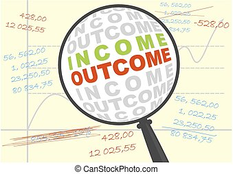 Income and outcome in magnifier