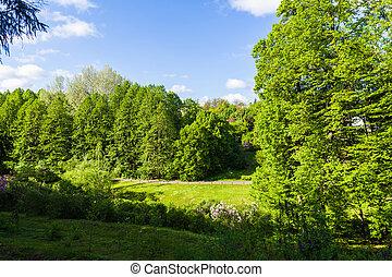 spring scenery Sophia Park in Uman, Ukraine